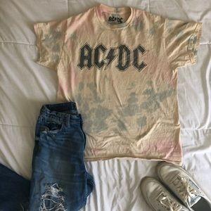Distressed AC/DC Tie-Dye